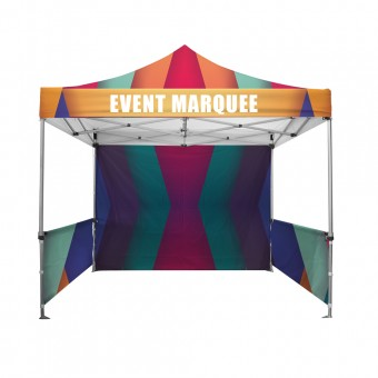 Premium Event Marquees - 3m x 3m (Branded Roof and Valance Package)