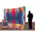 BANNERAD™ Spring Loaded PopUp Wall 3x3C