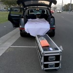 TF Road Case Loading into SUV