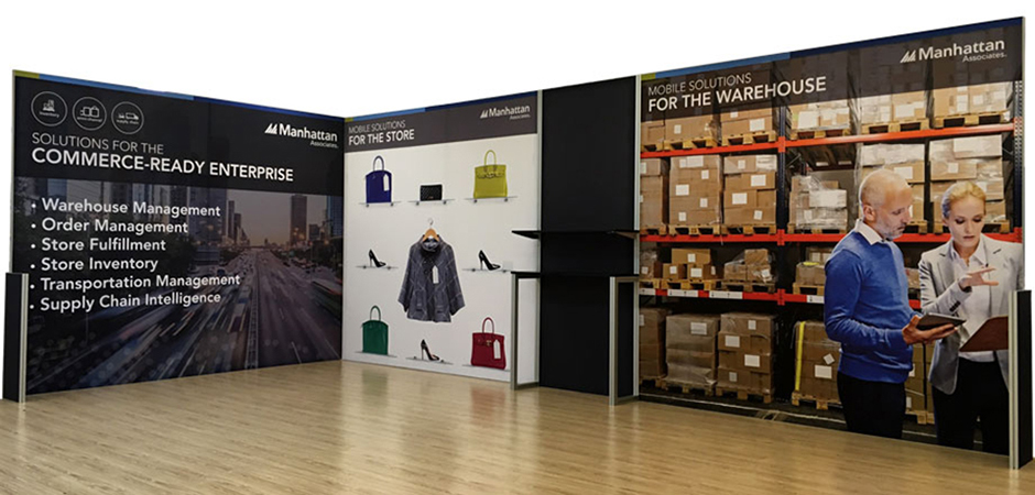 TexFrame DIY Reconfigurable Fabric Graphics Exhibition Booth Displays