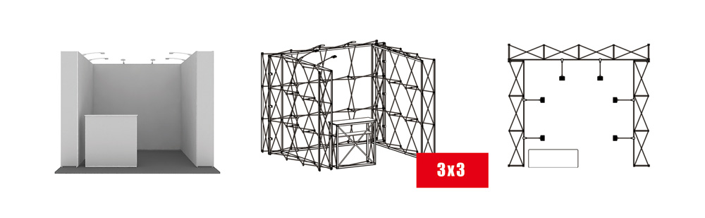 T-FPU Exhibition Booth Modular Kit 3x3