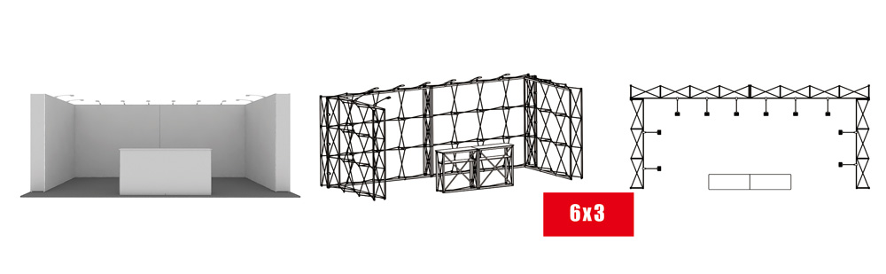 T-FPU Exhibition Booth Modular Kit 6x3