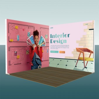 InstaLite 3x3 Corner Booth Package 201