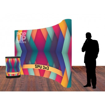 BANNERAD™ Spring Loaded PopUp Wall 4x3C