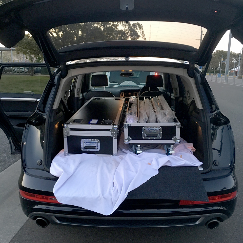 Did you know – a custom road case can fit in a large SUV?